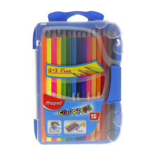 MAPED Smart Box For Colors Pencils 12 pcs + 3 Fluo