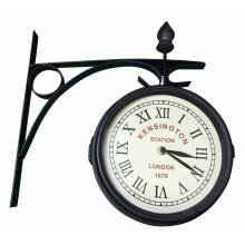 JYSK Railway Station Clock Rala Black D21Cm