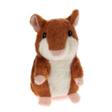 BESSKY Speak Talking Record Nod Hamster Mouse Plush Kids Toy - Gray