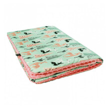LA MILLOU Minky Calming Thick Blanket (Large) - Bambi Deer Coral XB076PK
