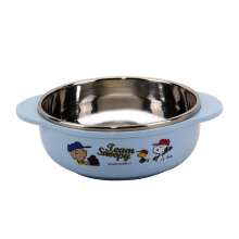 LOCK & LOCK Snoopy Baseball Stainless Rice Bowl With Handle LSP477