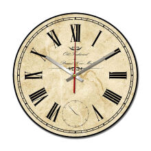 NAIL YOUR ART Old Vintage Wall Clock/30x30Cm