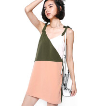LOVE, BONITO Bealla Colour Block Dress - Peach