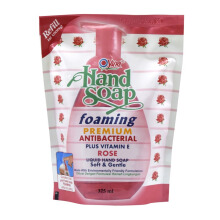 YURI Hand Soap Foaming Premium Antibacterial Rose Pouch 375ml