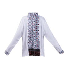LITTLE SUPERSTAR Koko Shirt 2 Tone LS White Batik Grey A038B [11 - 12]