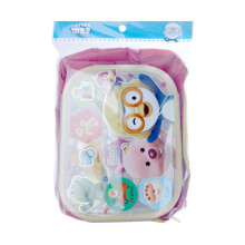 PORORO & Friends Eat Out Stainless Steel Zip Square Bag - Pink