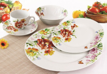 NAKAMI Dinner Set Garden Series Orange Carnation MH 2848 - 20PCS