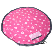 Portable Round Kid Children Toy Organizer Storage Bag Play Mat