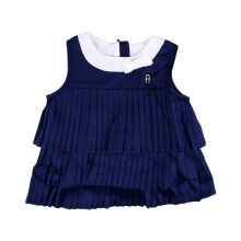 KIDDIEWEAR Dress Dark Blue White Ribbon 1RN7405