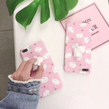 iPhone 7 plus 5.5inch Cute 3D Cartoon Doll Cat Full Body Soft TPU Cover Case