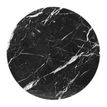 GLERRY HOME DÉCOR Round Black Zircon Marble - 20Cm