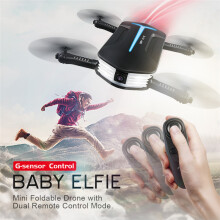 BESSKY JJRC H37 MINI BABY ELFIE 720P WIFI FPV Camera With Altitude Hold RC Quadcopter- Black
