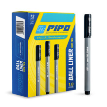 PIPO GP BALL LINER PPG1 Tinta Hitam (1 Pack = 12 Pcs)