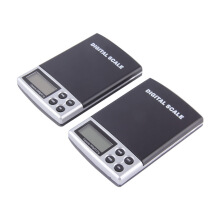 Black+Silver Portable Digital Pocket Weighing Balance Scale 300g / 0.01g 2000g / 0.1g