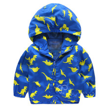 BESSKY Baby Infant Girls Boys Dinosaur Hooded Zip Coat Cloak Jacket Thick Warm Clothes_