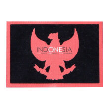 Tactical Series Velcro Patch 5 x 7.25 cm - Garuda Pancasila IndONEsia - Black Red