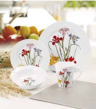 NAKAMI Dinner Set Iris Flower MH-B928 - 16PCS