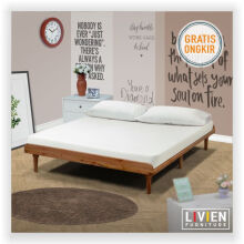Tempat Tidur Bed Aquilla Series Brown - Queen Bed - LIVIEN FURNITURE