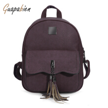Guapabien Preppy Style Tassel Pendant Backpack for Women