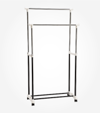 MAMI1 Garment Rack Double- 86x42,5x95-170 cm/ M322