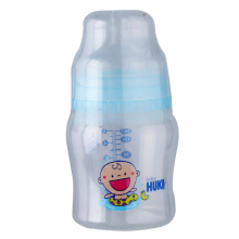 BABY HUKI PP Wide Neck W/ Wide Neck Nipple 140 ml - Blue (BPA Free)