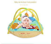 Baby Soft Play Mat Gym Blanket with Frame Rattle Crawling Toy