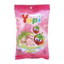YUPI Strawberry Kiss Mini Bag 45gr x 6pcs