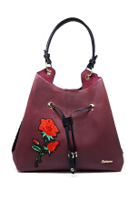 Catriona By Cocolyn Rosy shoulder bag - MAROON