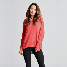 ZANZEA Women Plus Size Autumn Loose Batwing Long Sleeve Tops T-shirt