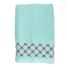 JOYHOME Bath Towel Double Cross Motif Ligth Green - 360g - 70 x 135 cm