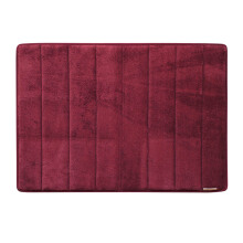 Microdry Memory Foam Bath Mat 43 X 61 cm - Burgundy (Small) By Terry Palmer