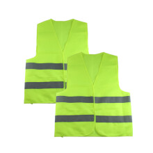 PAO MOTORING Safety Security Visibility Reflective Vest Construction Traffic [ Light Green ]/[ Orange ]/[ Mix up ]/2PCS