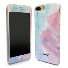 LOLYPOLY 2 in 1 Case Marble + Anti Gores for Apple Iphone 6 Plus / 6+ (010696xx06)