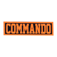 Tactical Series Velcro Patch 2.5 x 9 cm - COMMANDO - Black Orange