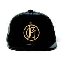 AMBUSH G-Dragon X Ambush Salon By Surrender Special Crest Leather Cap - Black OS [AMBCAP-568-BLK-OS]