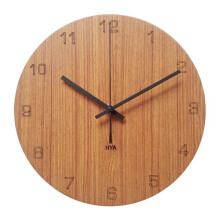 NAIL YOUR ART Black Oak Number Wall Clock Unik Artistik/30x30Cm