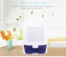 Xrow - 800A Portable Mini Dehumidifier Air Dryer Household WHITE US PLUG