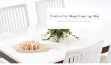 Multifunctional Fish Shape Dumpling Dish with Seasoning Plate Kitchen Tool