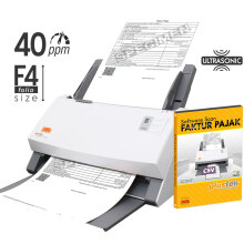 PLUSTEK Scanner SmartOffice PS406U + Software Scan Faktur Pajak