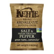 KETTLE CHIPS Krinkle Cut Salt & Pepper 56g