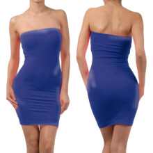 Elastic Tube Mini Dress Strapless Stretch Tight Body-con Seamless One Size
