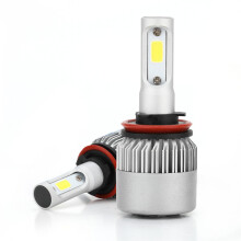 PAO MOTORING LED H8/H9/H11 Headlight Kit Low beam /High beam S2 Series LED Headlight Pure White 6500K Headlight bulbs 40w*2