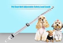 Adjustable Reflective Pet Seat Belt Training Dog Leash