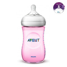 AVENT Bottle Natural 2.0 Single Pack 260ml - Pink SCF694/13