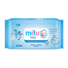 MITU Baby Wipes Pack 50s Regular - Blue