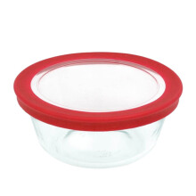 MARINEX Mixing Bowl with Plastic Lid - 0.6lt