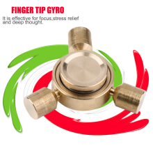 Brass Finger Hand Spinner Desk Anti Stress Rotation Toy For Autism And ADHD-Copper