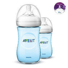 AVENT Bottle Natural 2.0 Twin Pack 260ml - Blue SCF695/23