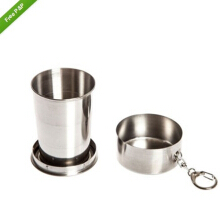 JDwonderfulhouse 140ml Portable Stainless Steel Folding Telescopic Collapsible Cup - Silver