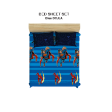 PILLOW PEOPLE Bed Sheet Set DC Justice Leagueof America - Blue  / 160x200cm